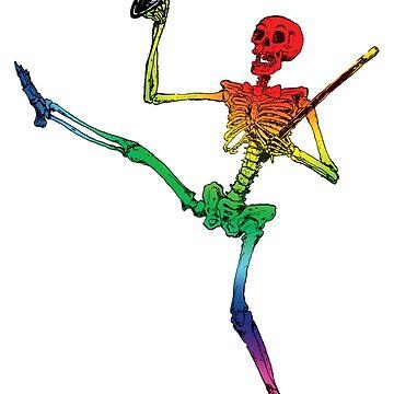 Depression Skeleton: Showtime! ROYGBIV by cicadahaus