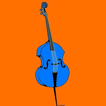 Blue double bass by telberry
