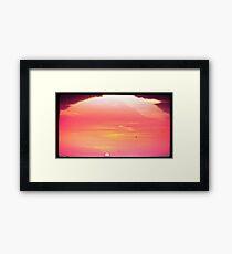 Sandy's Sunset Flyers Framed Print