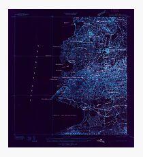 USGS TOPO Map Puerto Rico PR Puerto Real 362301 1937 25000 Inverted Photographic Print