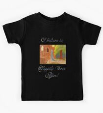 Cinderella's Arrival, I believe in Happily Ever After! Kids Tee