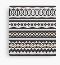 Scandinavian knitted pattern  Canvas Print