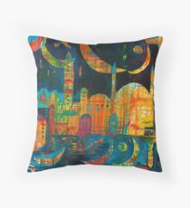 The Many Moons Of Peace Throw Pillow
