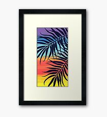 Palm Tree at Sunset Framed Print