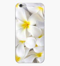 White Plumeria Tropical Frangipani Flowers iPhone Case