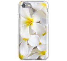 White Plumeria Tropical Frangipani Flowers iPhone Case/Skin