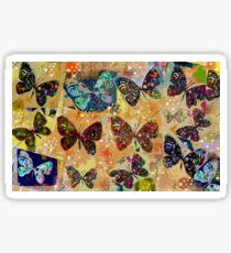 Butterflies in Spring Snowstorm Sticker