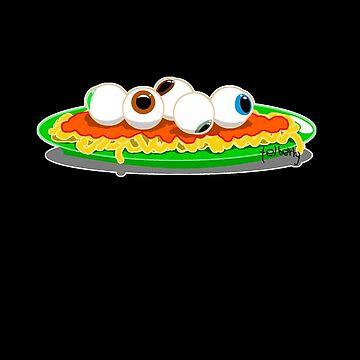 Eyeball spaghetti by telberry