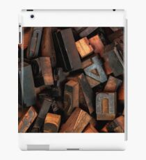 Letterpress printing iPad Case/Skin