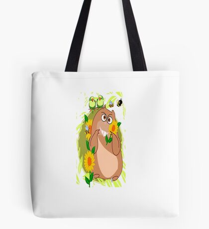 Hamster with His Friends Greetings (2871 Views) Tote Bag