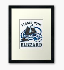 Planet Hoth Blizzard Framed Print