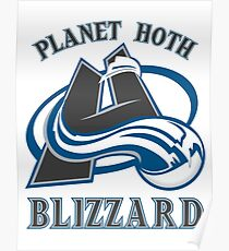 Planet Hoth Blizzard Poster