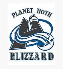 Planet Hoth Blizzard Photographic Print