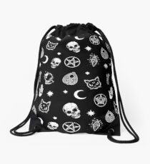 Witch Pattern Drawstring Bag