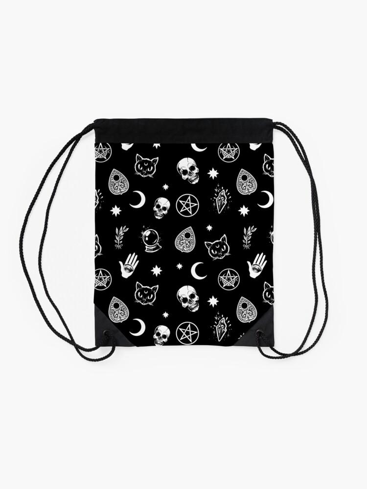Alternate view of Witch Pattern Drawstring Bag