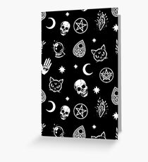 Witch Pattern Greeting Card