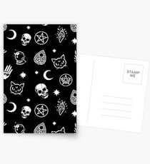 Witch Pattern Postcards