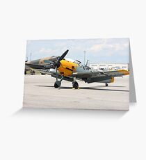 WWII German single emgine fighter ME-109 front view Greeting Card