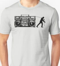 Giant Boombox Man Unisex T-Shirt