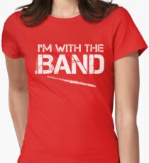 I'm With The Band - Flute (White Lettering) Womens Fitted T-Shirt