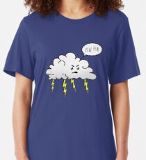 Angry Cloud Slim Fit T-Shirt