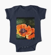 Oriental Poppies family One Piece - Short Sleeve