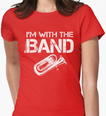 I'm With The Band - Baritone (White Lettering) T-Shirt