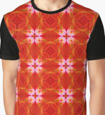 Mandala Pattern in Red and Violet Graphic T-Shirt
