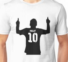 Lionel Messi FC Barcelona Black and White Unisex T-Shirt