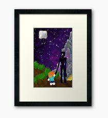 Enderfriend- A Minecraft Fanart Framed Print