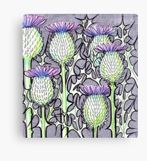 Inked Thistles Canvas Print