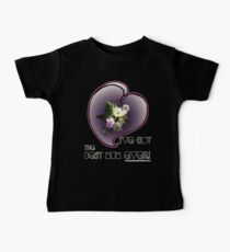 wildflower, Best Mum EVER! heart quirky Baby Tee