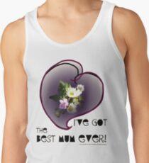 wildflower, Best Mum EVER! heart quirky Tank Top