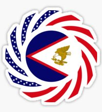 American Samoa Multinational Patriot Flag Series Sticker