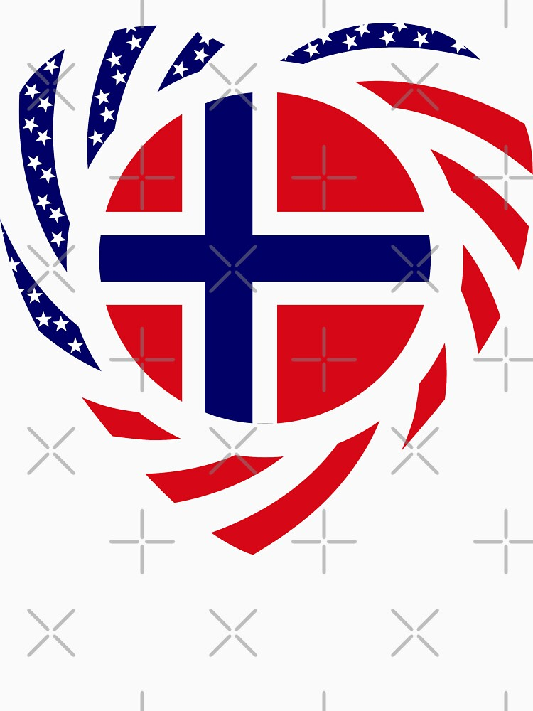 Norwegian American Multinational Patriot Flag Series 2.0 by carbonfibreme