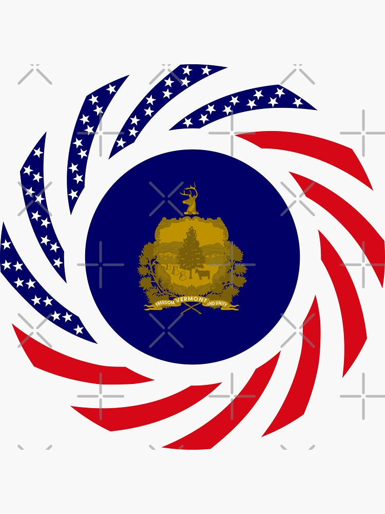 Vermont Murican Patriot Flag Series by carbonfibreme