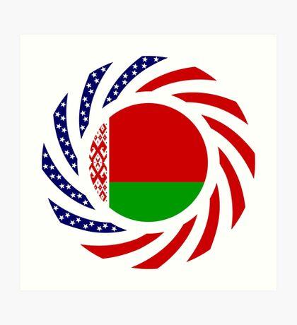 Belarusian American Multinational Patriot Flag Series Art Print