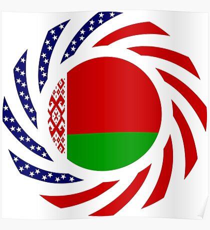 Belarusian American Multinational Patriot Flag Series Poster