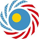 Paluan American Multinational Patriot Flag Series by Carbon-Fibre Media