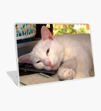 i'm comfortable wherever you are Laptop Skin