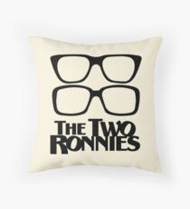 The Two Ronnies Throw Pillow
