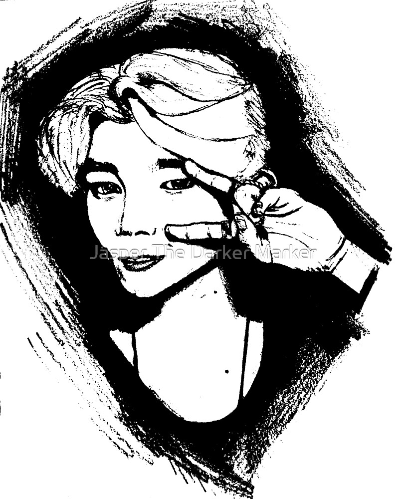 Jimin BTS sketch black and white
