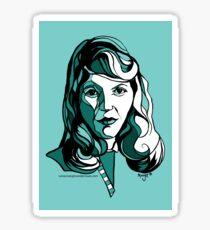 Sylvia Plath Poet and Writer Sticker