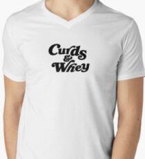 Curds & Whey (Black) Men's V-Neck T-Shirt