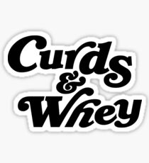 Curds & Whey (Black) Sticker