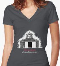 The Incubator Merchandise (Black) Women's Fitted V-Neck T-Shirt