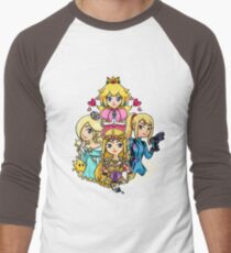 Peach, Samus, Rosalina & Zelda Men's Baseball ¾ T-Shirt