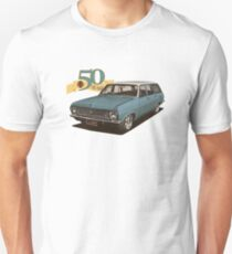 HR Holden Station Wagon - 50th Anniversary - Blue & White Unisex T-Shirt