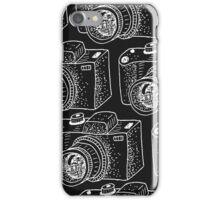 Hand drawn white cameras iPhone Case/Skin