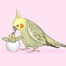 Mummy and Me Cockatiel by Katie Corrigan